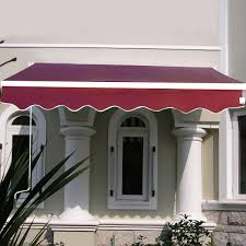 Deck Awnings Retractable Manual Patio 6 4 U0027 X 5 U0027 Retractable Deck Sunshade Awning Canopies