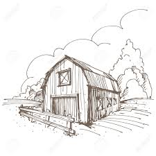 hand drawn illustration of a farm royalty free cliparts vectors