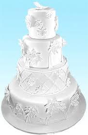 Origami Wedding Cake - yummyarts origami garden wedding cake