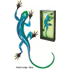 metal wall gecko blue large by fountasia other ornaments