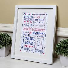 Unique Wedding Present Personalised Typography Wedding Gift Print By Lovely Jubbly