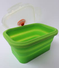 household items silicone collapsible bento lunch food