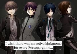 Persona 4 Kink Meme - persona confessions