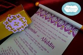 Scroll Invitations Beautiful Scroll Arabian Nights Inkpressive Invitations