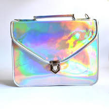 holographic bags mady large holographic vegan non leather crossbody bag goldenponies