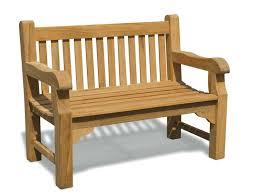 gladstone 2 seater garden bench 4ft teak park bench jati brand