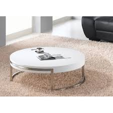 brushed nickel coffee table whiteline modern living ross white and brushed nickel coffee table