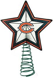 amazon com glass star treetopper chicago bears sports u0026 outdoors