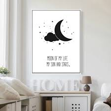 moon of my life my sun and stars canvas art painting modern home