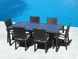 Wicker Patio Table Set 7pc Outdoor Weather Wicker Dining Table Set I Buy Now I Free Shipping