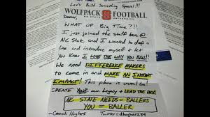 n c state recruiter sends unusual but funny letter to football