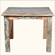 reclaimed wood square dining table rustic reclaimed wood distressed 40 square kitchen dining table