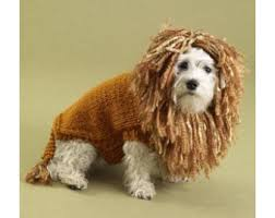 king of the beasts lion dog sweater pattern knit patterns