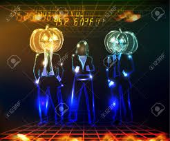 halloween team neon background royalty free cliparts vectors and