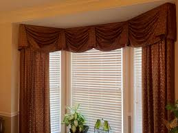 Valances For Bay Windows Inspiration Kingston Valance With Stationary Panels Complete This Bay Window
