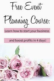 how to become a wedding planner for free learn how to be an event planner with our free 4 day course if