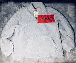 secret pink sweater nwt s secret pink sherpa louisville cardinals pullover