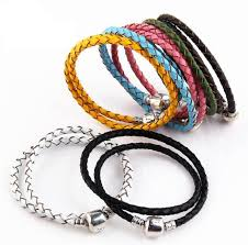fine jewelry charm bracelet images High quality fine jewelry woven 100 genuine leather bracelet mix jpg