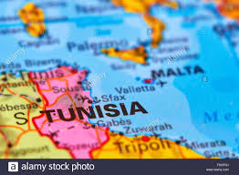 tunisia on africa map tunisia country in africa on the world map stock photo royalty