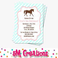 pony party invitation horse birthday invitations cowgirl