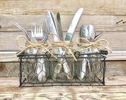 silverware caddy etsy