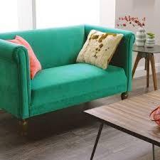Velvet Tufted Loveseat Furniture Teal Tufted Velvet Loveseat