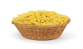 Pasta Basket Ridged Hollow Pasta In A Basket Stock Image Image 17250471