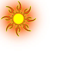 yellow tribal sun design tatoos