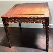 chinese rosewood side table chinese asian rosewood lacquered plum blossom design bird square