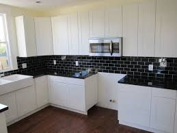 Brown And White Kitchen Cabinets Admirable Black And White Kitchen Tile Design With Black Kitchen