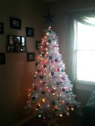 white christmas tree with colored lights pre lit christmas tree white and colored lights solomailers info