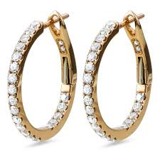 gold ear rings images diamond earrings in 18k gold diamondland