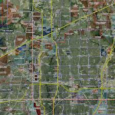 Ft Worth Map Dallas Fort Worth Expanded Aerial Wall Mural Landiscor