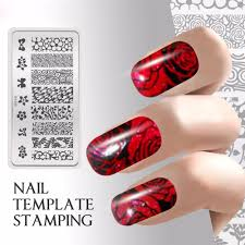 quadrate image stamp art nail stamping plate manicure template for