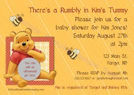 winnie the pooh baby shower invitations winnie the pooh baby shower invitation wording home party theme