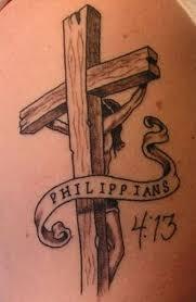 Crosses Tattoos - philippians black cross tattoomagz