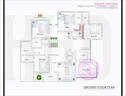 spacious single floor house with floor plan kerala home design