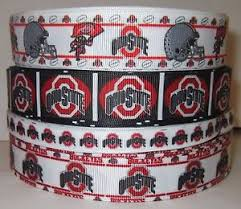 ohio state ribbon grosgrain ohio state buckeyes football ribbon lot for hair bows 4