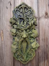 celtic green decorative wall plaque home garden ornament