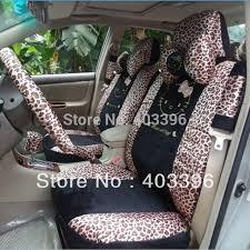 kitty universal leopard print winter car seat covers car