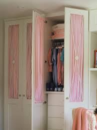 Fabric Closet Doors Home Dzine Bedrooms Dress Up Closet Doors With Fabric Wallpaper