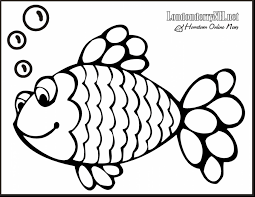 beautiful rainbow fish coloring page with fish coloring pages