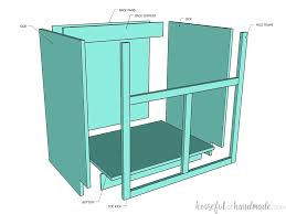 how to make a sink base cabinet how to build a farmhouse sink base cabinet houseful of