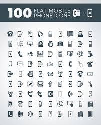 100 flat mobile phone u0026 contact icons