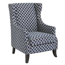 Pier One Armchair Alec Navy Blue Trellis Wing Chair Living Rooms Room And
