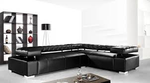 Modern Leather Sectional Sofa Divani Casa Disco Modern Leather Sectional Sofa