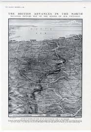 Ww1 Map 1915 Ww1 Map Flanders Dunkirk Ypres Arras British Advance Print