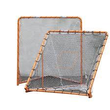 diy lacrosse goal ezgoal 6 ft x 6 ft folding metal lacrosse goal with throwback