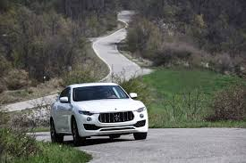 suv maserati black maserati levante three pronged suv attack road tests driven