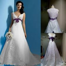 purple and white wedding plus size white and purple wedding dress naf dresses